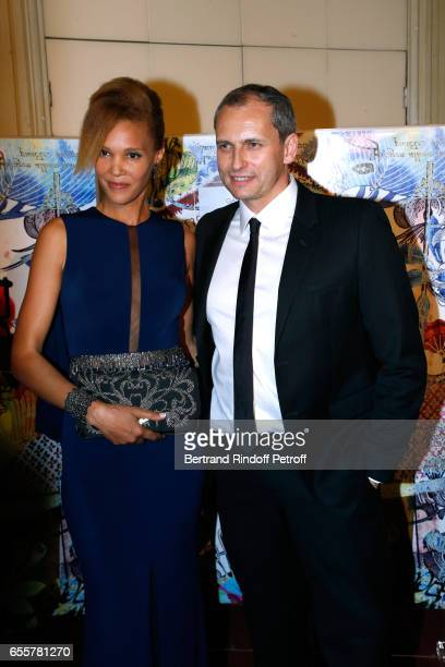 Amanda Scott and Louis Laforge attend the Enfance Majuscule 2017 Charity Gala for the benefit of abused childhood Held at Salle Gaveau on March 20...