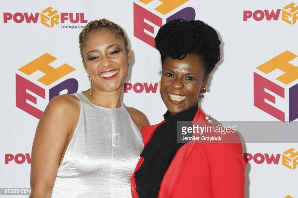 Amanda Seales and Executive Director Renée Joslyn attends the PowHERful Benefit Gala on June 13 2018 at Tribeca Rooftop in New York City