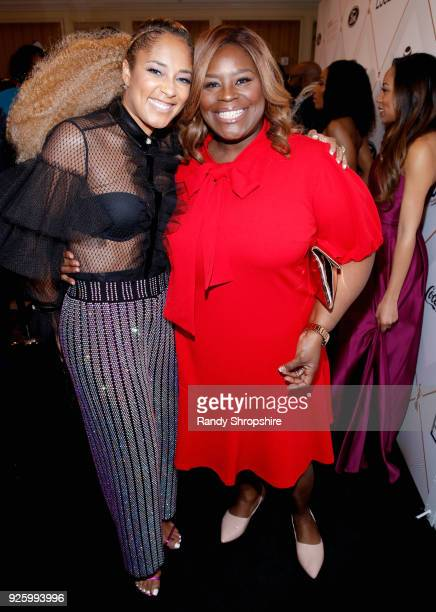 Amanda Seales and Retta attend the 2018 Essence Black Women In Hollywood Oscars Luncheon at Regent Beverly Wilshire Hotel on March 1 2018 in Beverly...