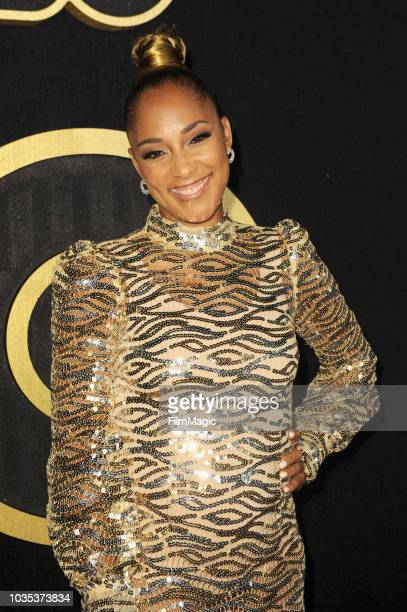 Amanda Seales arrives at HBO's Official 2018 Emmy After Party on September 17 2018 in Los Angeles California