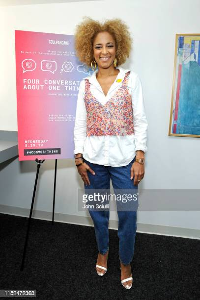 Amanda Seales attends SoulPancake's Four Conversations about One Thing at Hammer Museum on May 29 2019 in Los Angeles California