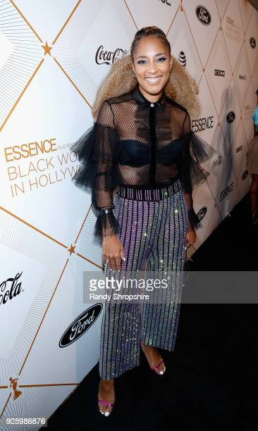 Amanda Seales attends the 2018 Essence Black Women In Hollywood Oscars Luncheon at Regent Beverly Wilshire Hotel on March 1 2018 in Beverly Hills...