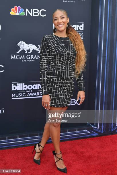 Amanda Seales attends the 2019 Billboard Music Awards at MGM Grand Garden Arena on May 1 2019 in Las Vegas Nevada