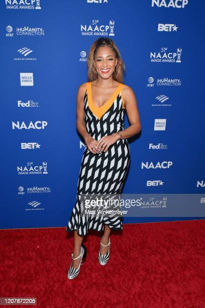 Amanda Seales attends the 51st NAACP Image Awards nontelevised Awards Dinner on February 21 2020 in Hollywood California