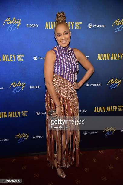 Amanda Seales attends the Alvin Ailey American Dance Theater's 60th Anniversary Opening Night Gala Benefit at New York City Center on November 28...