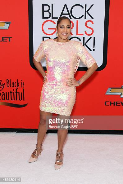 """Amanda Seales attends the BET's """"Black Girls Rock!"""" Red ..."""
