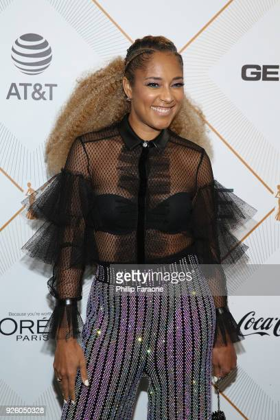 Amanda Seales attends the Essence 11th Annual Black Women In Hollywood Awards Gala at the Beverly Wilshire Four Seasons Hotel on March 1 2018 in...