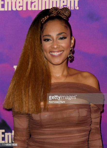 Amanda Seales attends the People Entertainment Weekly 2019 Upfronts at Union Park on May 13 2019 in New York City