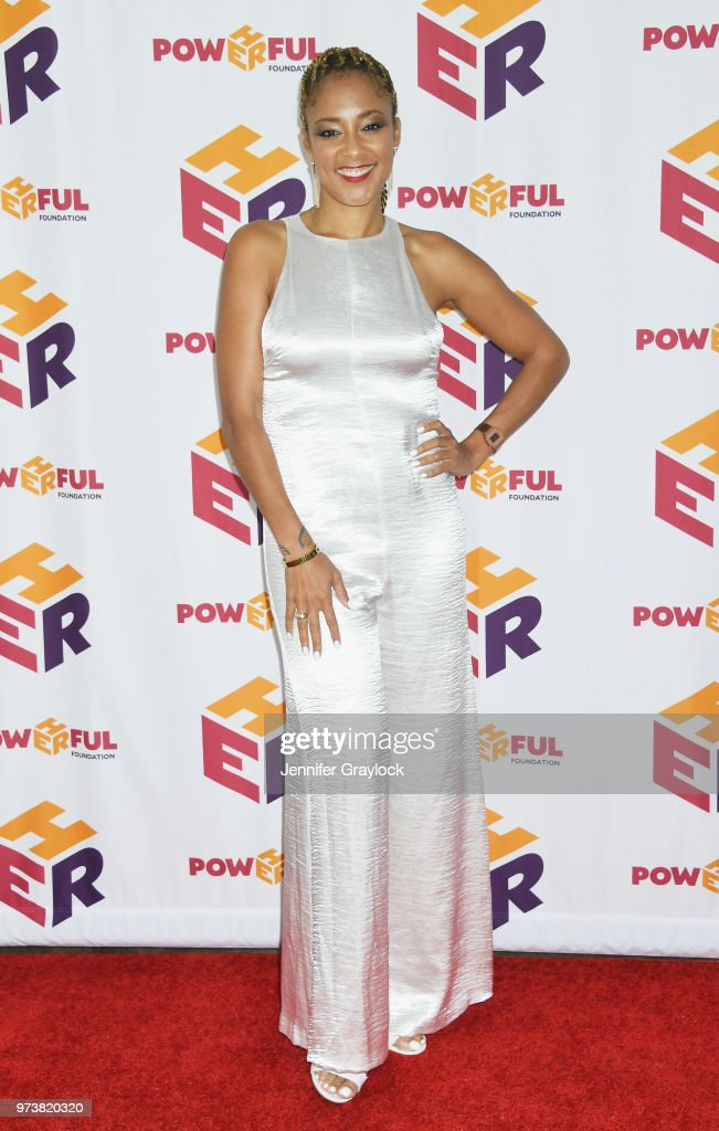 Amanda Seales attends the PowHERful Benefit Gala on June 13, 2018 at Tribeca Rooftop in New York City.