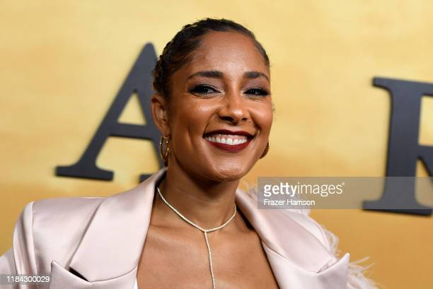 """Amanda Seales attends the Premiere Of Focus Features' """"Harriet"""" at The Orpheum Theatre on October 29, 2019 in Los Angeles, California."""
