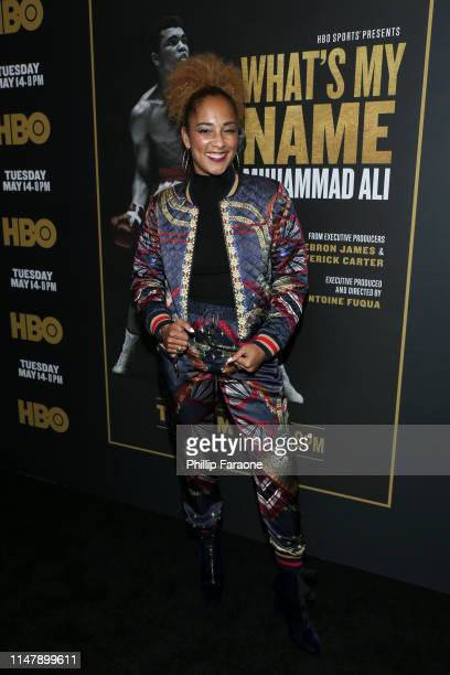 Amanda Seales attends the premiere of HBO's What's My Name Muhammad Ali at Regal Cinemas LA LIVE Stadium 14 on May 08 2019 in Los Angeles California