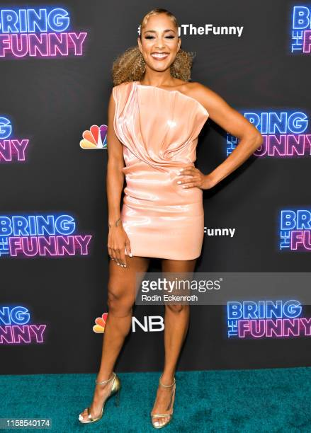 Amanda Seales attends the premiere of NBC's Bring The Funny at Rockwell Table Stage on June 26 2019 in Los Angeles California