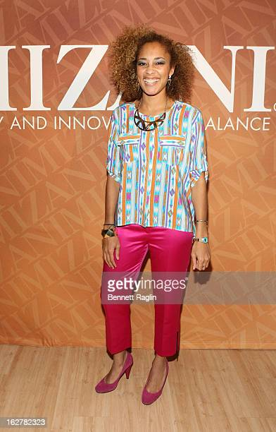 Amanda Seales attends 'The Spoken Word' Hosted By Kim Coles at L'Oreal Soho Academy on February 26 2013 in New York City
