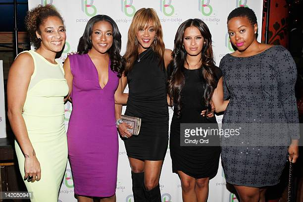 Amanda Seales Damali Elliott Chantelle Rocsi Diaz and Chrisette Michelle attend PetalsNBelles Limitless 2012 at Greenhouse on March 28 2012 in New...