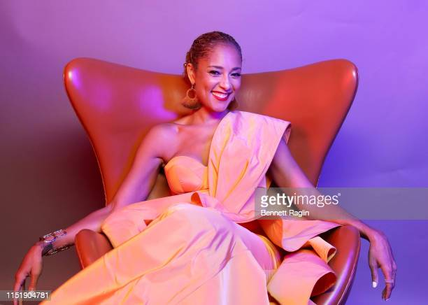 Amanda Seales poses for a portrait during the BET Awards 2019 at Microsoft Theater on June 23 2019 in Los Angeles California