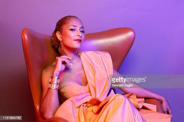 Amanda Seales poses for a portrait during the BET Awards 2019 at Microsoft Theater on June 23, 2019 in Los Angeles, California.