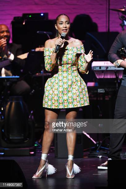 Amanda Seales speaks onstage during the 2019 Apollo Theater Spring Gala at the Apollo Theater on June 10 2019 in New York City