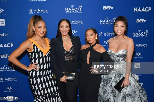 Amanda Seales, Tamera Mowry-Housley, Adrienne Houghton, and Jeannie Mai attends the 51st NAACP Image Awards non-televised Awards Dinner on February...