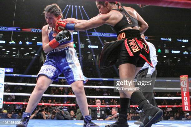 Amanda Serrano defeats Yamila Reynosa by Unanimous Decision in their WBO Junior Welterweight Title fight at Barclays Center on September 8 2018 in...
