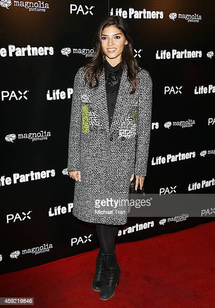 Amanda Setton arrives at the Los Angeles premiere of 'Life Partners' held at ArcLight Hollywood on November 18 2014 in Hollywood California
