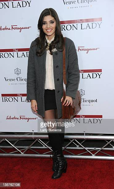 Amanda Setton attends the 'The Iron Lady' New York premiere at the Ziegfeld Theater on December 13 2011 in New York City