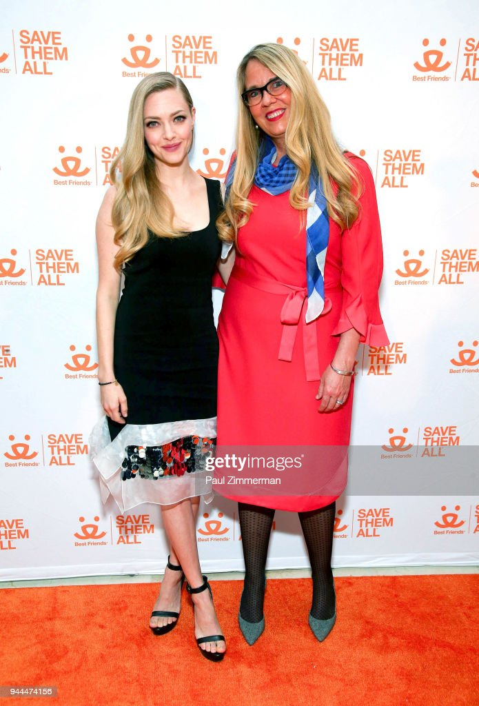 Amanda Seyfried and CEO of Best Friends Animal Society Jullie Castle attend 3rd Annual Best Friends Animal Society New York City Gala at Guastavino's on April 10, 2018 in New York City.