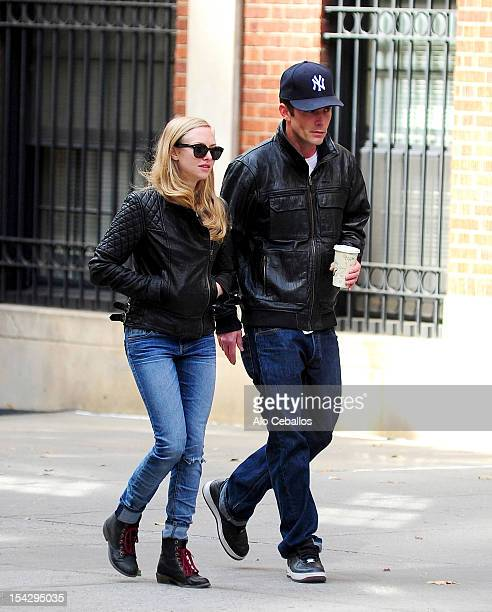 Amanda Seyfried and Desmond Harrington are seen in the West Village on October 17 2012 in New York City