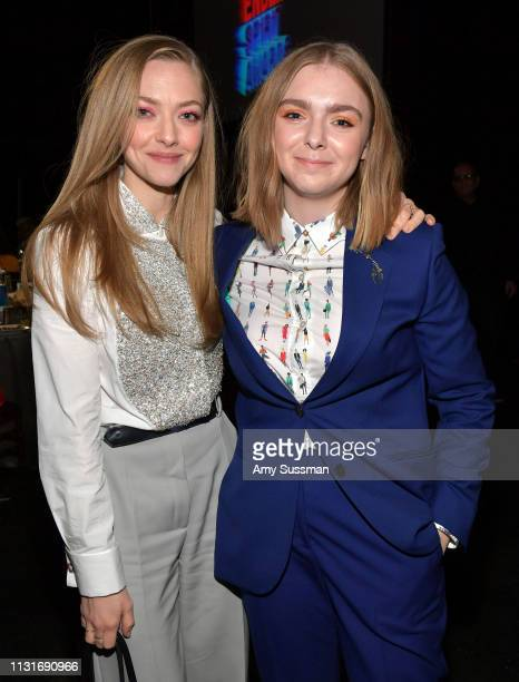 Amanda Seyfried and Elsie Fisher pose during the 2019 Film Independent Spirit Awards on February 23 2019 in Santa Monica California