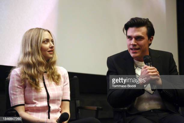 """Amanda Seyfried and Finn Wittrock attend the """"A Mouthful Of Air"""" Q&A with Amanda Seyfried, cast and filmmakers at AMC Century City 15 on October 15,..."""