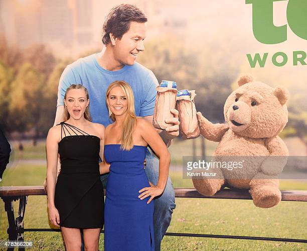Amanda Seyfried and Jessica Barth attend the New York Premiere of Ted 2 at Ziegfeld Theater on June 24 2015 in New York City