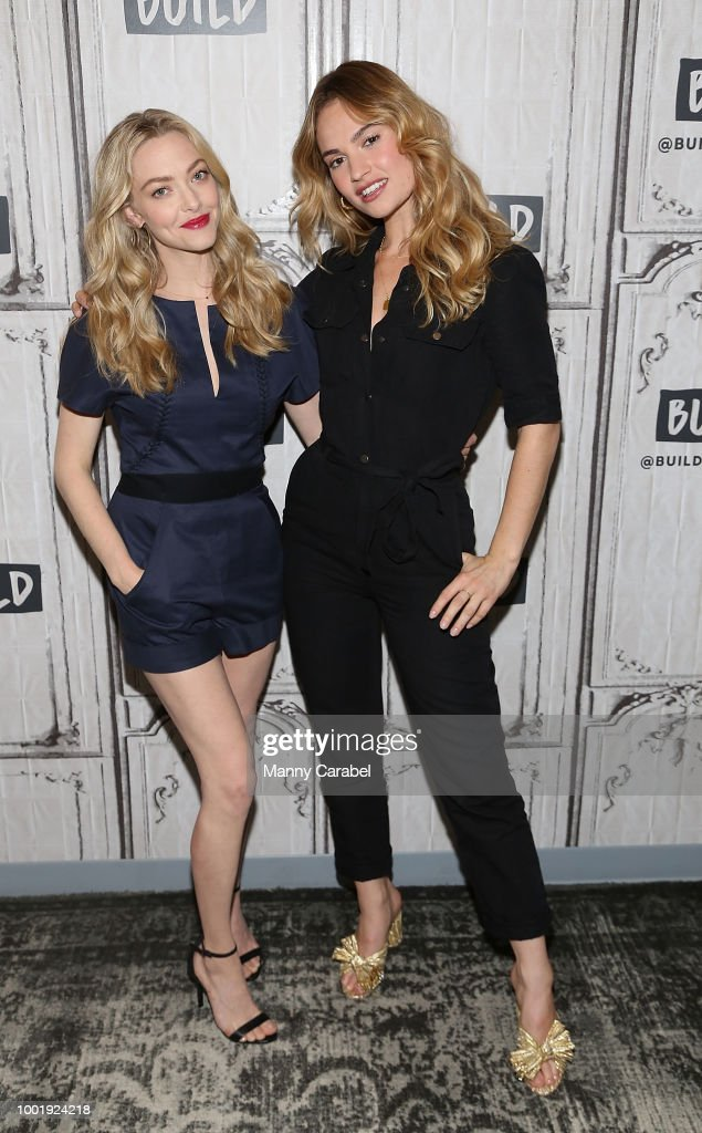 Amanda Seyfried and Lily James visit Build Series to discuss 'Mamma Mia! Here We Go Again' at Build Studio on July 19, 2018 in New York City.