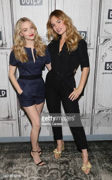 Amanda Seyfried and Lily James visit Build Series to discuss 'Mamma Mia Here We Go Again' at Build Studio on July 19 2018 in New York City