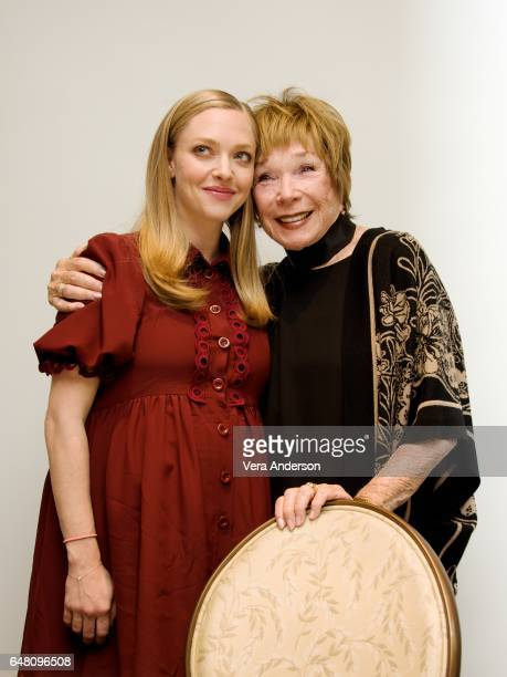 Amanda Seyfried and Shirley MacLaine at The Last Word press conference at the Four Seasons Hotel on March 3 2017 in Beverly Hills California
