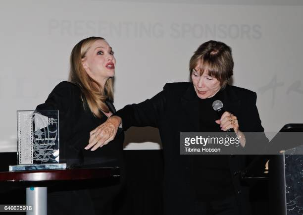 Amanda Seyfried and Shirley MacLaine attend The KCET Cinema Series Lumiere Award Ceremony and 'The Last Word' screening at ArcLight Sherman Oaks on...