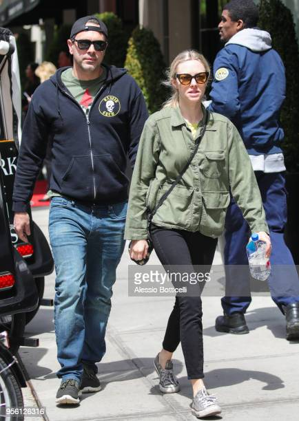 Amanda Seyfried and Thomas Sadoski are seen on May 7 2018 in New York City