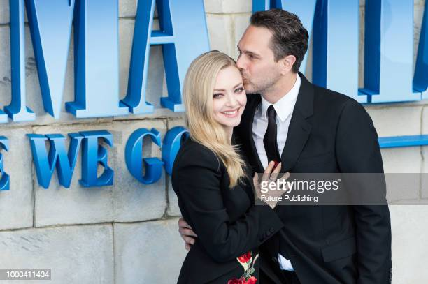Amanda Seyfried and Thomas Sadoski arrive for the world film premiere of 'Mamma Mia Here We Go Again' at Eventim Apollo Hammersmith in London July 16...
