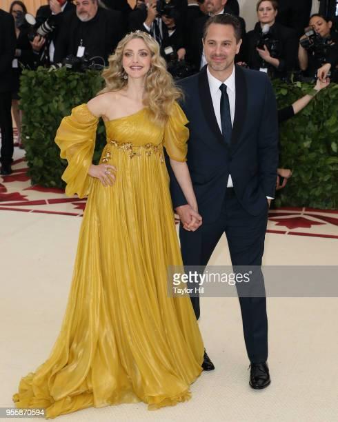 Amanda Seyfried and Thomas Sadoski attend 'Heavenly Bodies Fashion the Catholic Imagination' the 2018 Costume Institute Benefit at Metropolitan...