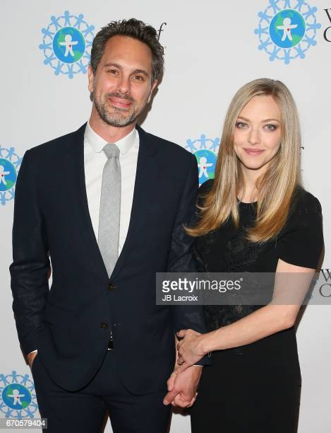 Amanda Seyfried and Thomas Sadoski attend the 2017 World Of Children Hero Awards on April 19 2017 in Beverly Hills California