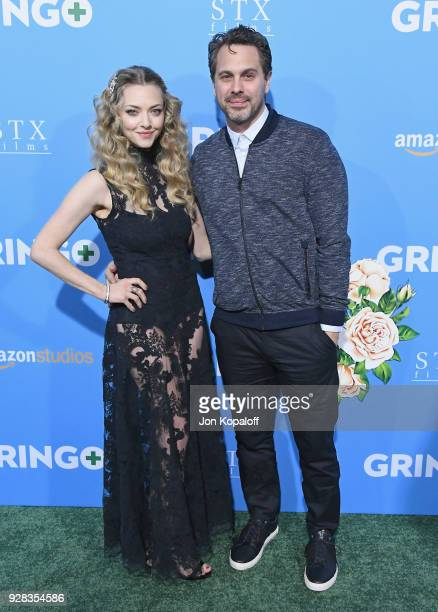 Amanda Seyfried and Thomas Sadoski attend the Los Angeles Premiere 'Gringo' at Regal LA Live Stadium 14 on March 6 2018 in Los Angeles California