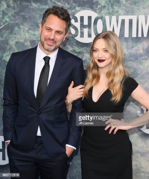 Amanda Seyfried and Thomas Sadoski attend the premiere of Showtime's 'Twin Peaks' at The Theatre at Ace Hotel on May 19 2017 in Los Angeles California