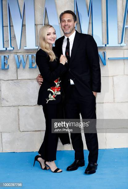 Amanda Seyfried and Thomas Sadoski attend the UK Premiere of 'Mamma Mia Here We Go Again' at Eventim Apollo on July 16 2018 in London England