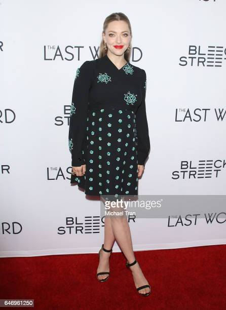 Amanda Seyfried arrives at the Los Angeles premiere of The Last Word held at ArcLight Hollywood on March 1 2017 in Hollywood California