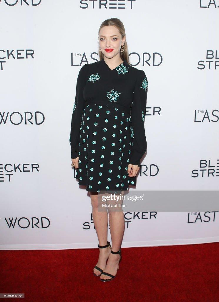 "Premiere Of Bleecker Street Media's ""The Last Word"" - Arrivals : News Photo"
