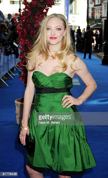 Amanda Seyfried arrives at the UK film premiere of Mamma Mia the Movie at the Odeon Leicester Square on June 30 2008 in London England