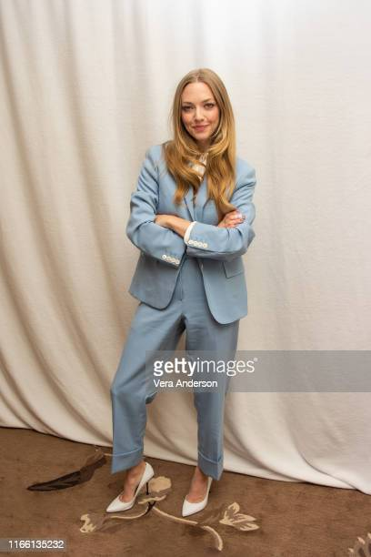 Amanda Seyfried at The Art Of Racing In The Rain press conference at Four Seasons Hotel Los Angeles at Beverly Hills on August 03 2019 in Los Angeles...
