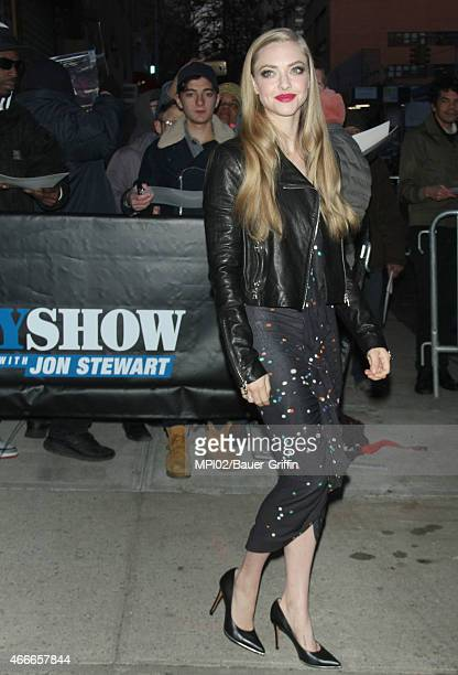 Amanda Seyfried at 'The Daily Show with Jon Stewart' on March 17 2015 in New York City