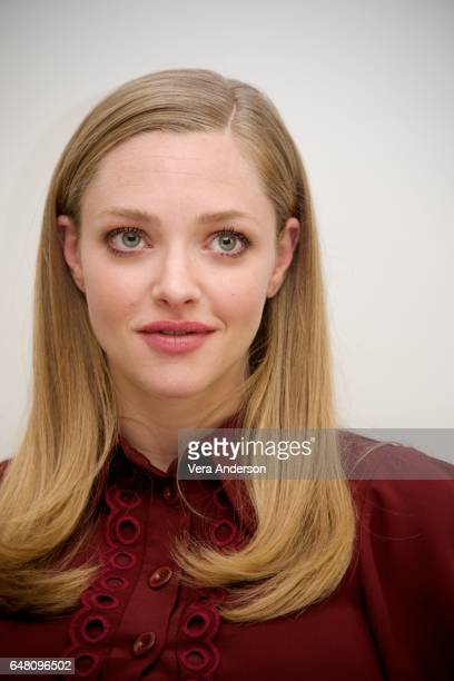 Amanda Seyfried at The Last Word press conference at the Four Seasons Hotel on March 3 2017 in Beverly Hills California