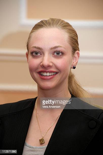 Amanda Seyfried at the 'Letters To Juliet' Press Conference at Due Torri Hotel Baglioni on May 2 2010 in Verona Italy