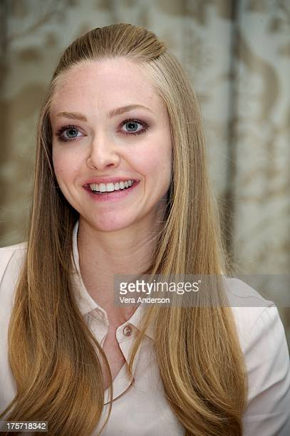 Amanda Seyfried at the 'Lovelace' Press Conference at the Four Seasons Hotel on August 5 2013 in Beverly Hills California