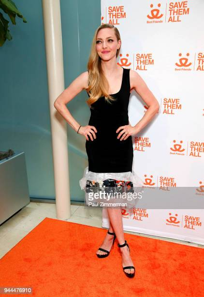 Amanda Seyfried attends 3rd Annual Best Friends Animal Society New York City Gala at Guastavino's on April 10 2018 in New York City